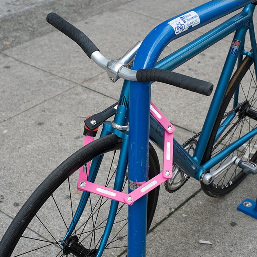 abus ugrip bordo 5700 zapięcie rowerowe składane limonkowe