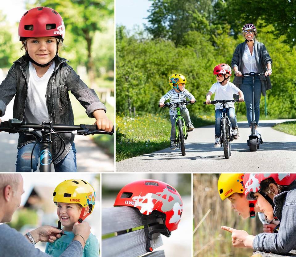 Kask rowerowy dziecięcy Uvex dla każdego dziecka