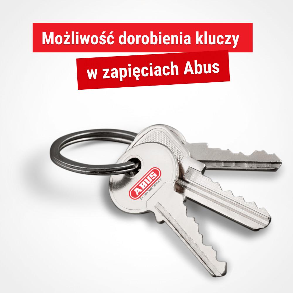 Abus umożliwia dorobienie klucza do naszego zapięcia
