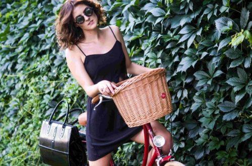 koszyk na rower w rowerze miejskim